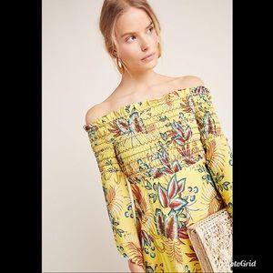 Anthro Farm Rio Bria Smocked Mini Dress NWT